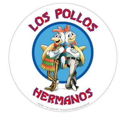 Sticker vinyle Los Pollos Hermanos blanc Breaking Bad