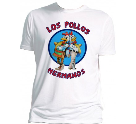 Tee-Shirt Blanc Los Pollos Hermanos Breaking Bad