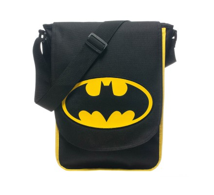 Sac à Bandoulière Logo Jaune Batman