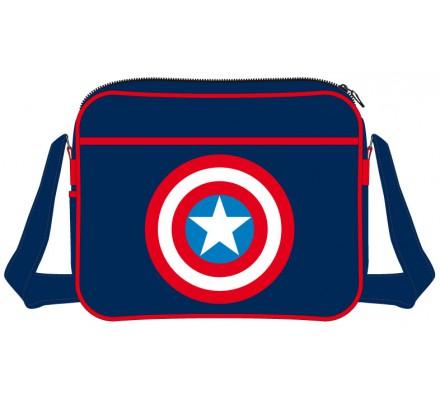 Sac à Bandoulière Bleu Shield Logo Captain America