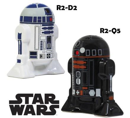 Salière et Poivrière R2D2 R2Q5 Star Wars