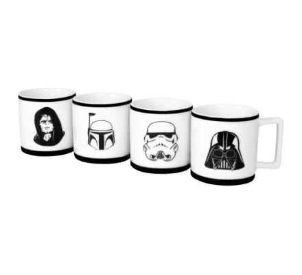 Set 4 tasse à expresso Star Wars
