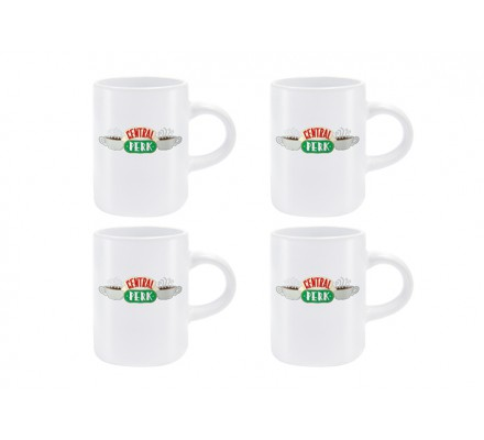Set 4 tasse Central Perk 125ml Friends