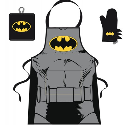 Set Barbecue Tablier Manique et Gant Comics Batman