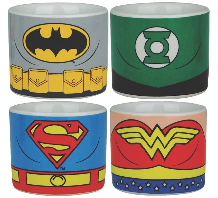 Set de 4 Coquetiers Justice League