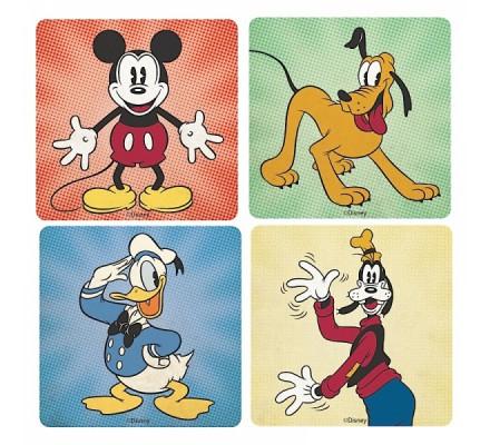 Set de 4 Sous Verres Mickey et ses Amis Disney