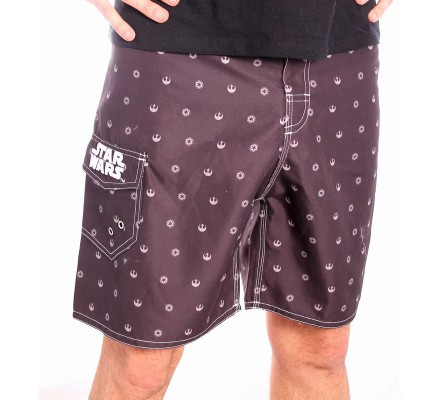 Short de Bain Noir All Over Star Wars