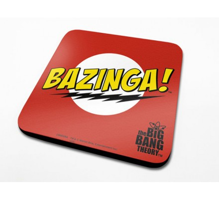 Sous-Verre Rouge Bazinga 10 x 10cm Big Bang Theory