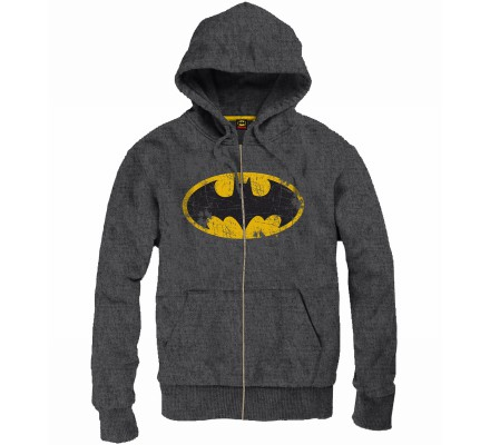 Sweat Gris Logo Vintage Batman