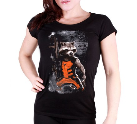 T-Shirt Femme Rocket Ready Gardiens de la Galaxie