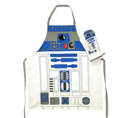 Tablier Adulte Cuisine + Gant Tissu R2D2 Star Wars