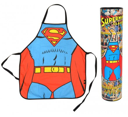 Tablier Bleu et Rouge Suit Superman