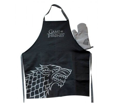 Tablier de cuisine + gant Stark Game of Thrones