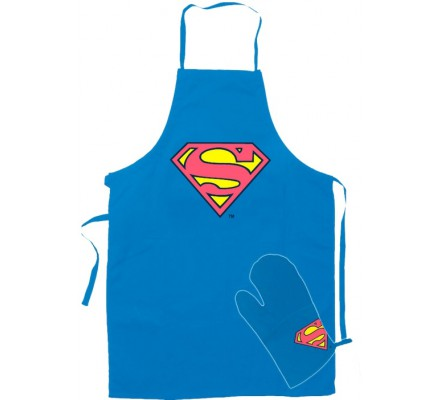 Tablier de cuisine + Gant Superman