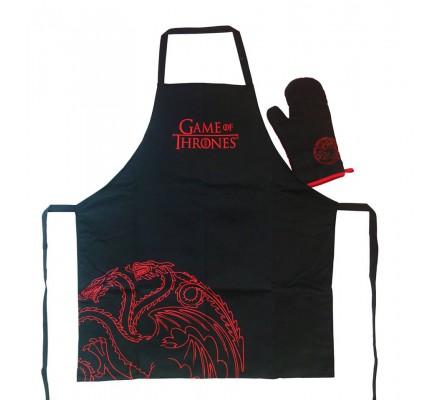 Tablier de cuisine + gant Targaryen Game of Thrones