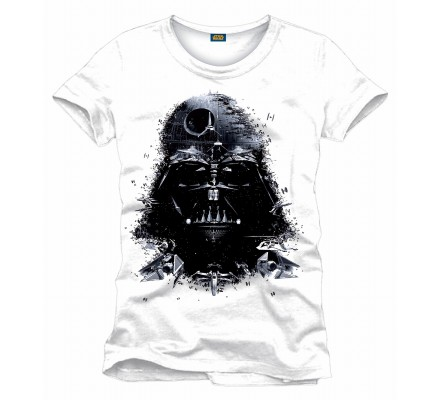 Tee-Shirt Blanc Dark Vador Recomposed Star Wars