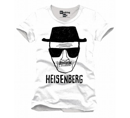 Tee-Shirt Blanc Heisenberg Head Breaking Bad