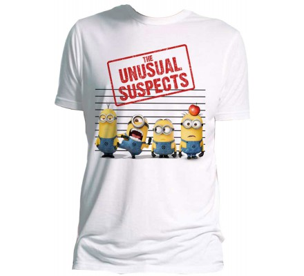 Tee-Shirt Blanc Unusual Suspects Moi Moche et Méchant