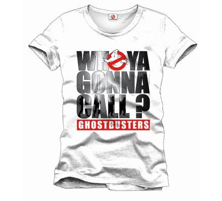 Tee-Shirt Blanc Who Ya Gonna Call Ghostbusters