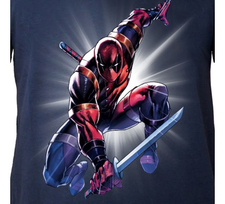 Tee-Shirt Bleu Attack Saber Deadpool