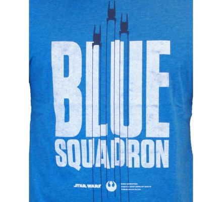 Tee-Shirt Bleu Blue Squadron Star Wars