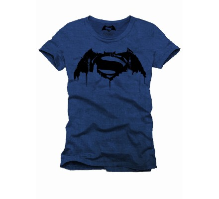 Tee Shirt Bleu City Batman VS Superman
