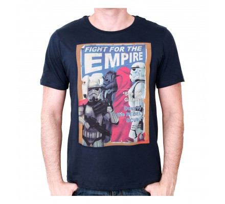 Tee-Shirt Bleu Fight For The Empire Star Wars