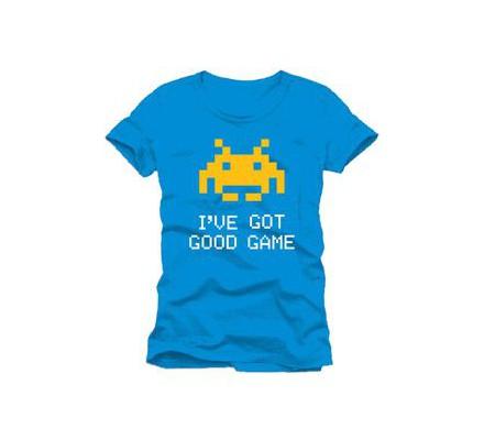 Tee-Shirt Bleu I've Got Good Game Space Invaders
