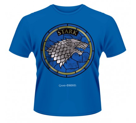Tee-Shirt Bleu Vitrail Stark Game of Thrones