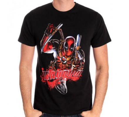 Tee-Shirt Bloody Attack Deadpool