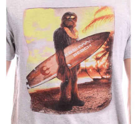 Tee-Shirt Chewie On The Beach Star Wars