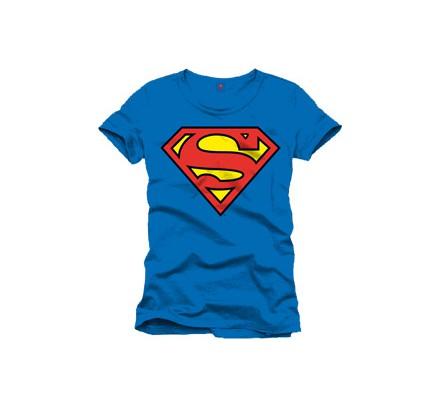 Tee-Shirt Classique Bleu Logo Rouge Superman