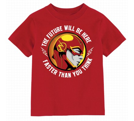 Tee Shirt Enfant Rouge The Future Will Be Here Flash