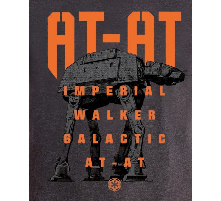 Tee-Shirt Gris AT AT Bigger Star Wars