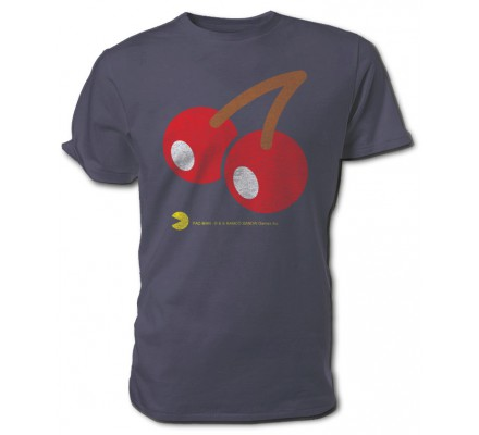 Tee-Shirt Gris Cerises Pacman
