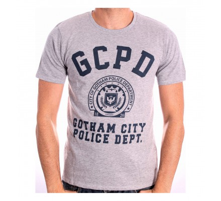 Tee-Shirt Gris GCPD Gotham City Batman