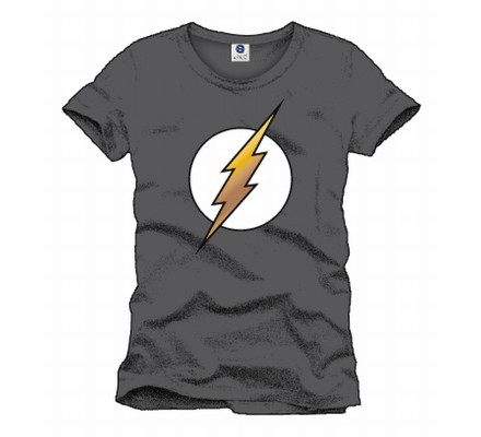 Tee-Shirt Gris Logo Flash