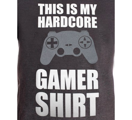 Tee-Shirt Gris My Gamer Shirt Geek