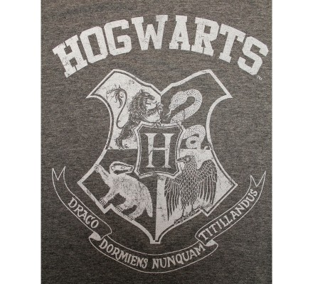 Tee-Shirt Gris Poudlard Old School Harry Potter