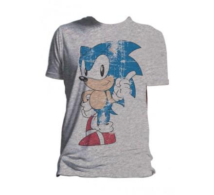 Tee-Shirt Gris Retro Sonic