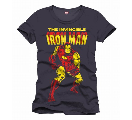 Tee-Shirt Gris The Invincible Iron Man