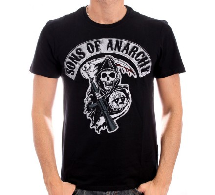 Tee-Shirt Homme Death Reapper Patch Sons of Anarchy