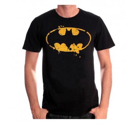 Tee Shirt Homme Noir Logo Grunge Batman
