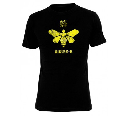 Tee-Shirt Noir Abeille Jaune Breaking Bad