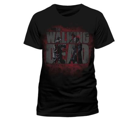 Tee-Shirt Noir Axed Zombie The Walking Dead