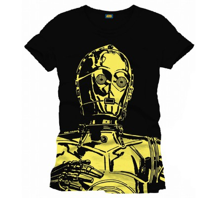 Tee-Shirt Noir Big C3PO Star Wars