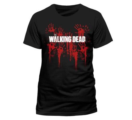 Tee-Shirt Noir Bloody Hands The Walking Dead
