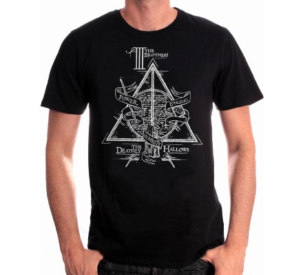 Tee-Shirt Noir Brothers Harry Potter