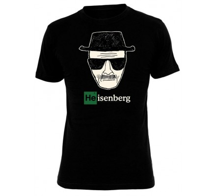 Tee-Shirt Noir Dessin Heisenberg Breaking Bad
