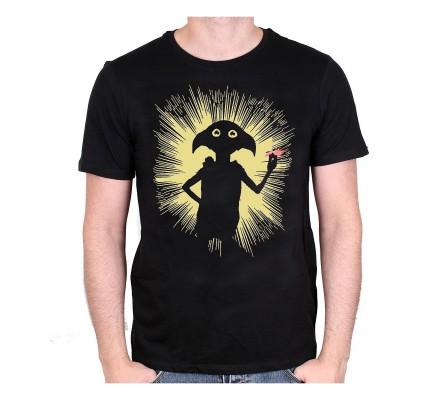 Tee-Shirt Noir Dobby Magic Harry Potter